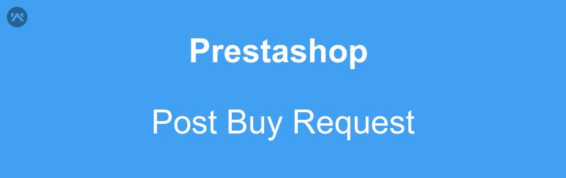 prestashop post buy request