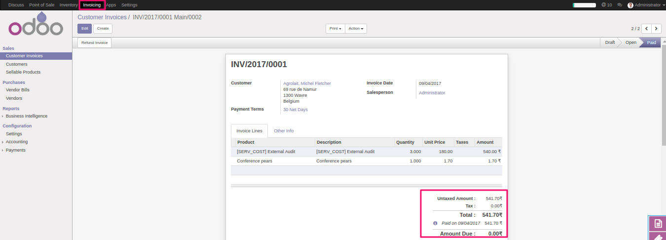 Invoice Price Of Cars Word Odoo Pos Auto Invoice Reconcile Invoice Finance Companies Pdf with Invoic Excel In This Way This Module Reduces A Lot Of Effort Of Yours And You Can  Easily Manage The Invoices Of Your Point Of Sale Salesforce Invoicing Word