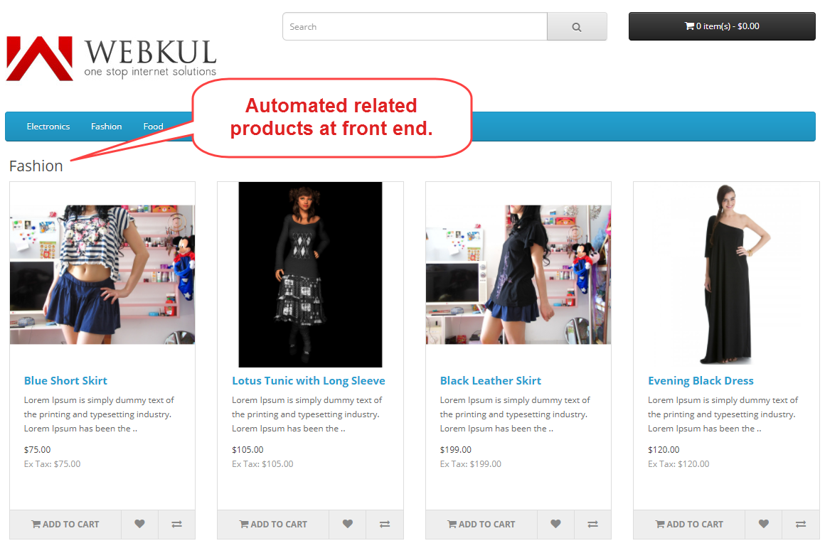automated related product