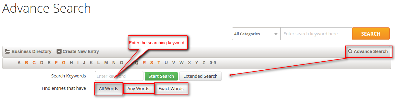 Magento 2 Business Directory advance search