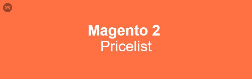 Magento 2 Pricelist