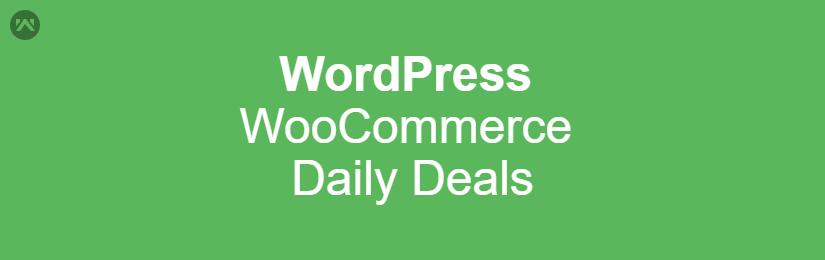 WordPress WooCommerce Daily Deals