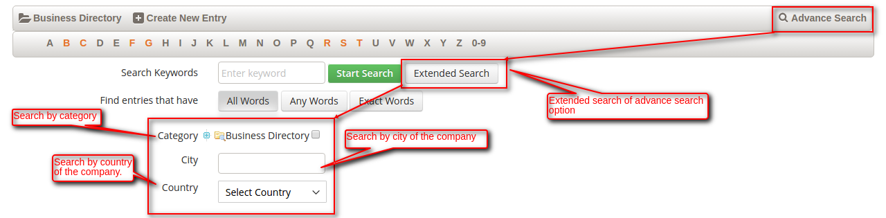 Magento 2 Business Directory extended search