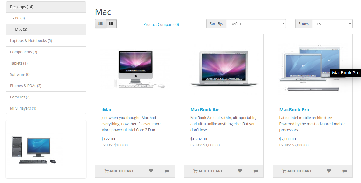front end without price list