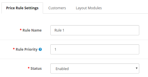 front end with price rule enabled
