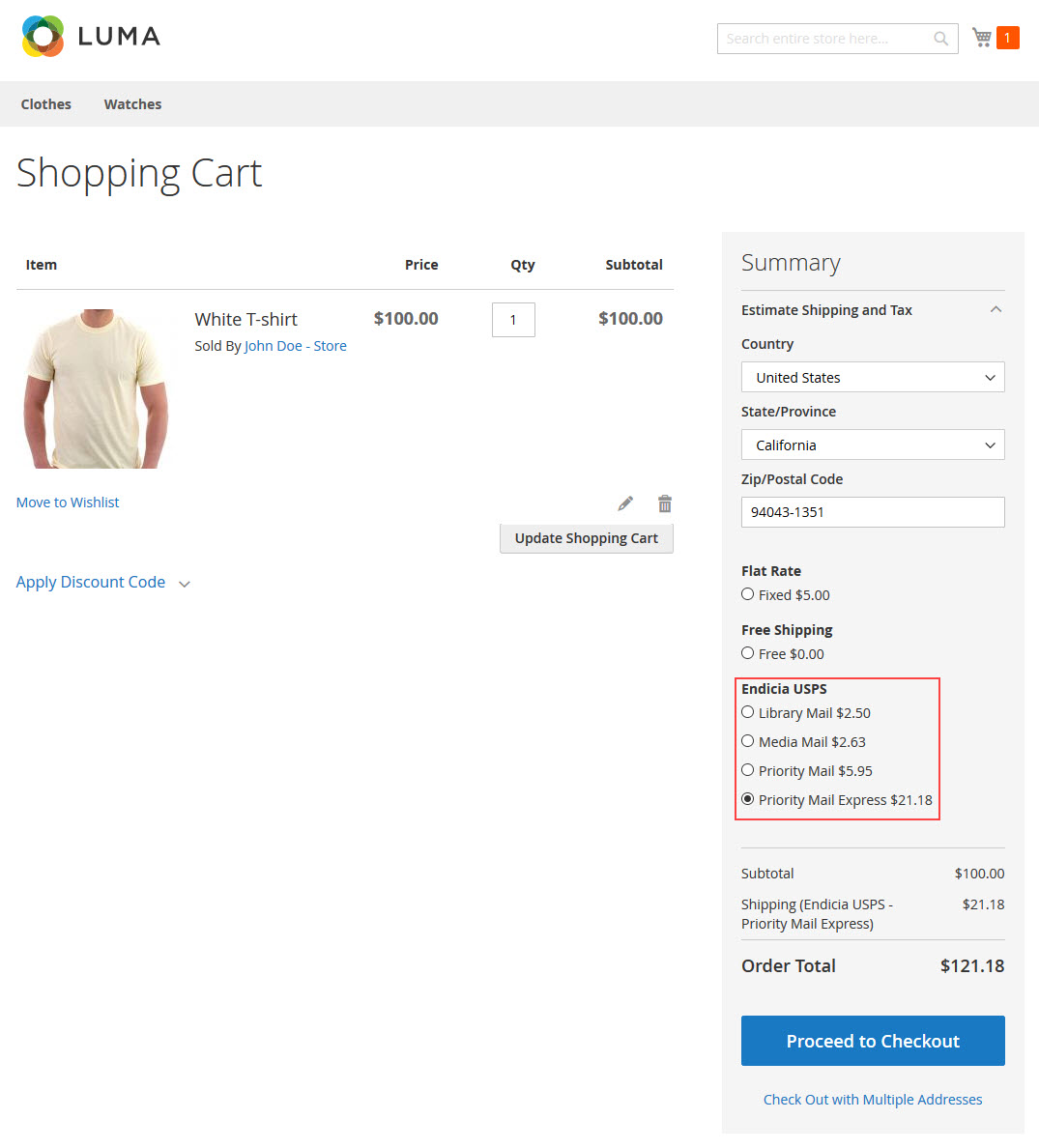 The Customer Can Check Shipping Rates From Shopping Cart And Estimate Costs Taxes Without Going Through Checkout Process