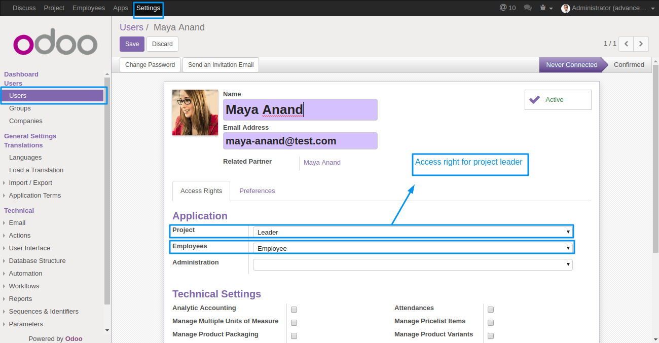 Odoo Project Advance Team Management