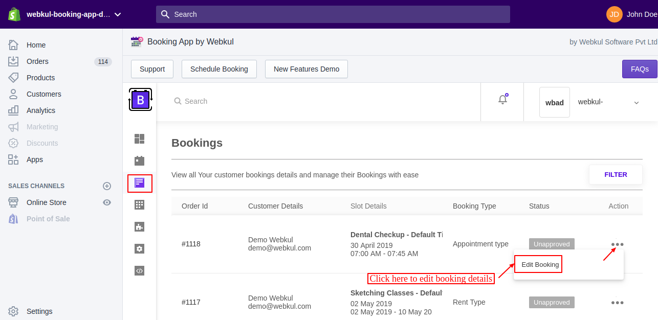 Booking App For Shopify Appointment Bookings Rental Bookings