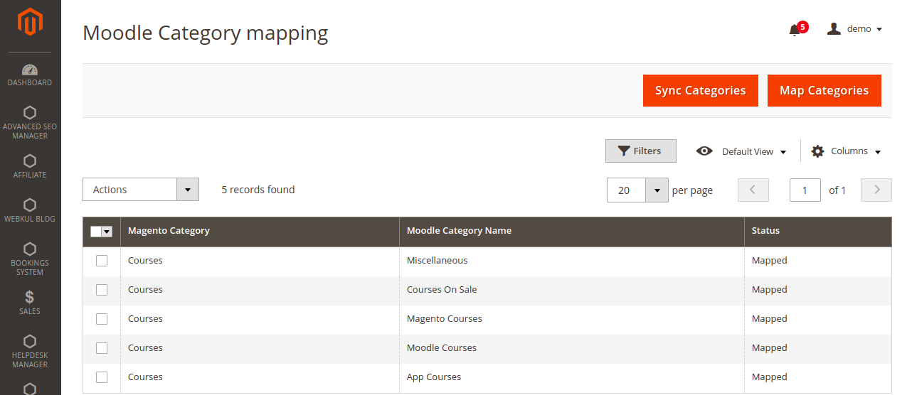 webkul-magento2-marketplace-moodle-connecto-Category-mapping