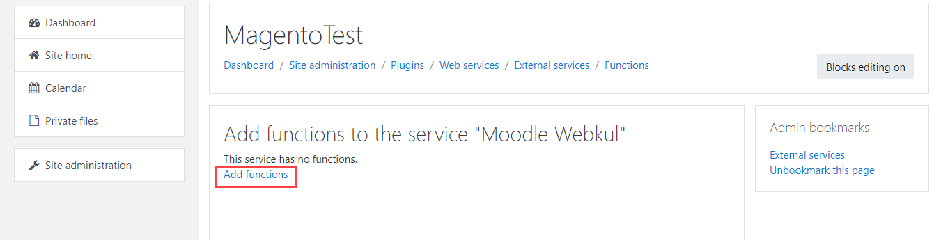 Get the Moodle Credentials
