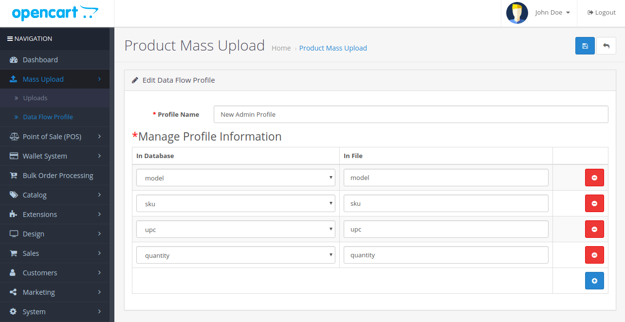 OpenCart - Opencart Product Mass Upload