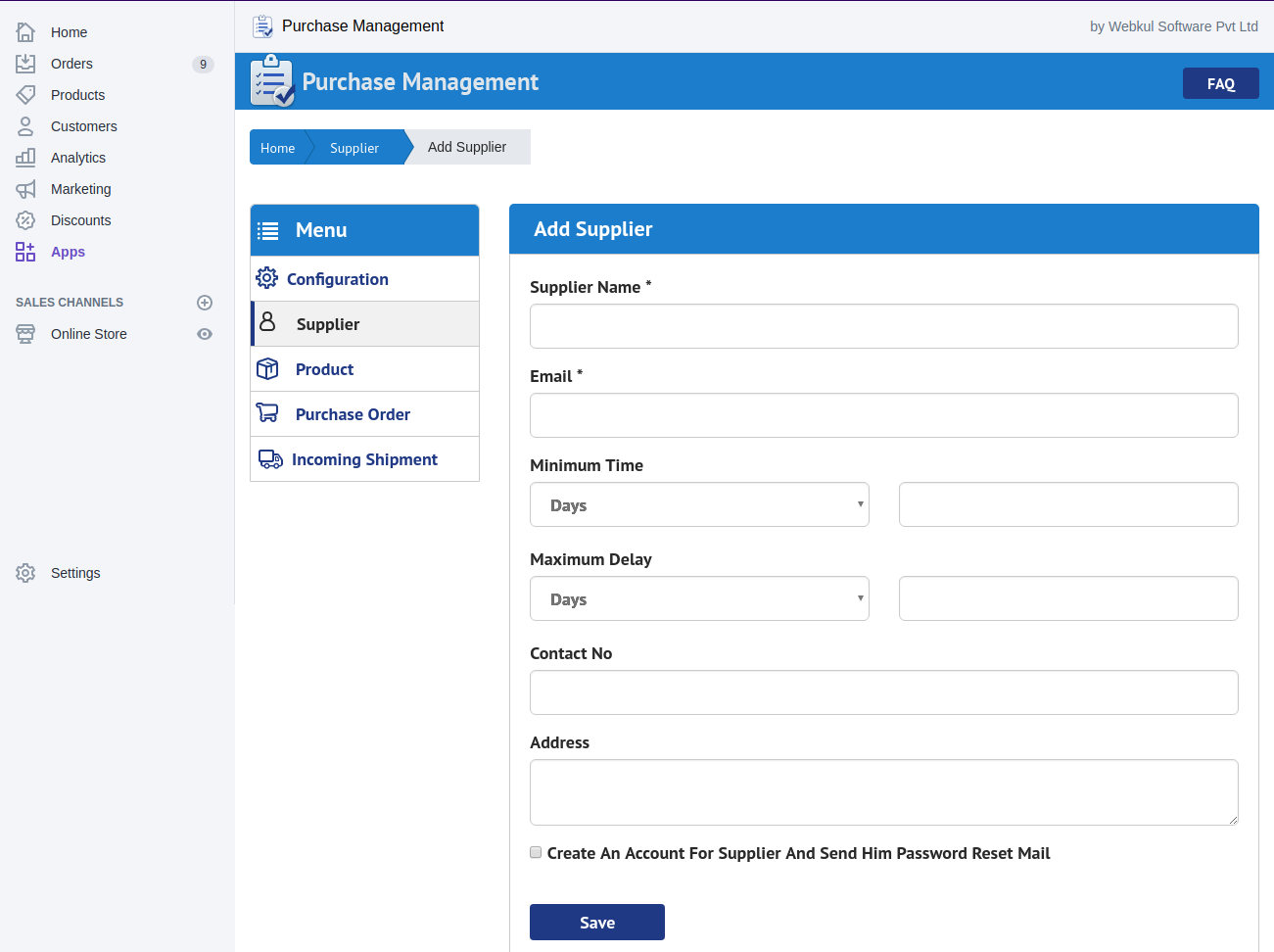 Purchase Management for Shopify   Purchase Order from Supplier