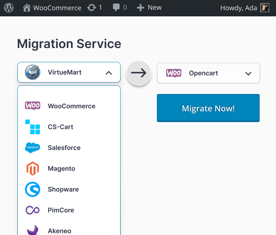 WooCoomerce Migration Services